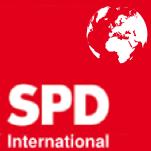 Entwurf eines SPD International Logos aus Bukarest